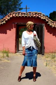 Roberto Cavalli skirt, snake-skin purse