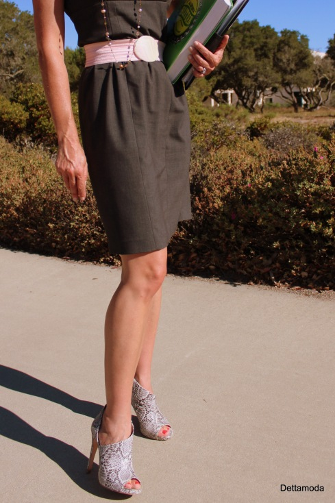 grey Calvin Klein dress